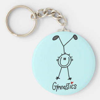 Basic Stick Figure Gymnastics Tshirts and Gifts Key Ring