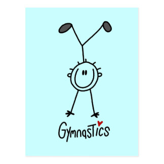 Basic Stick Figure Gymnastics Tshirts and Gifts Postcard