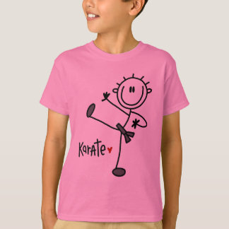 Basic Stick Figure Karate T-shirts and Gifts