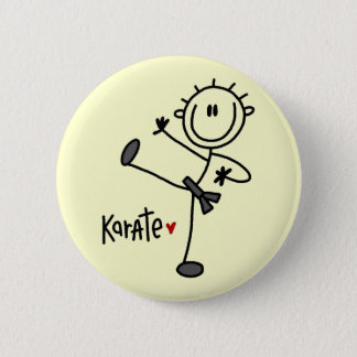 Basic Stick Figure Karate T-shirts and Gifts 6 Cm Round Badge