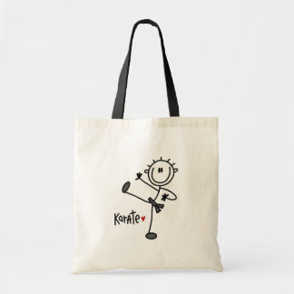 Basic Stick Figure Karate T-shirts and Gifts Canvas Bag