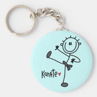 Basic Stick Figure Karate T-shirts and Gifts Basic Round Button Key Ring