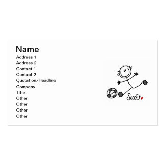 Basic Stick Figure Soccer Player T-shirts and Gift Pack Of Standard Business Cards