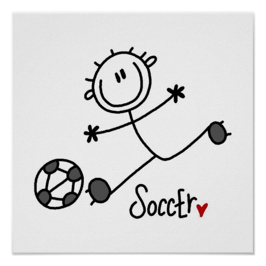 Basic Stick Figure Soccer Player T-shirts and Gift
