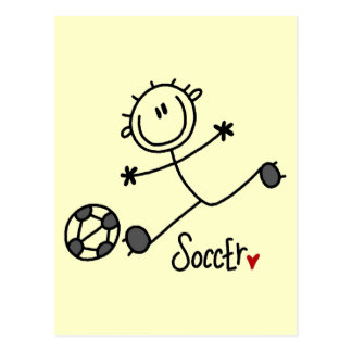 Basic Stick Figure Soccer T-shirts and Gifts Postcard