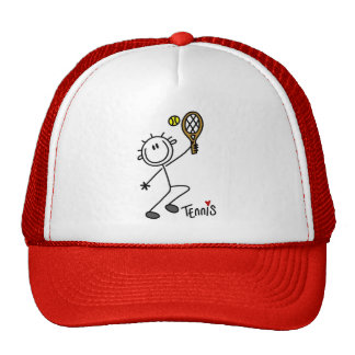 Basic Stick Figure Tennis Tshirts and Gifts Trucker Hat