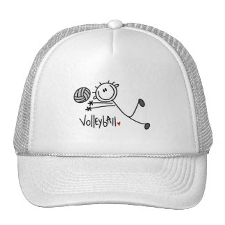 Basic Stick Figure Volleyball Tshirts and Gifts Hat