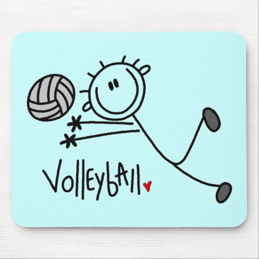 Basic Stick Figure Volleyball Tshirts and Gifts Mouse Pad