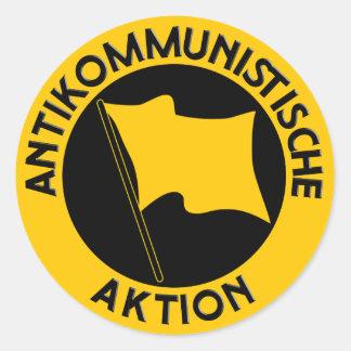 Basic Sticker: Antikom logo Classic Round Sticker