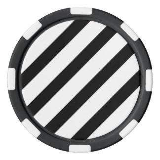 Basic Stripe 1 Black and White Poker Chips
