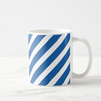 Basic Stripe 1 Dazzling Blue Basic White Mug