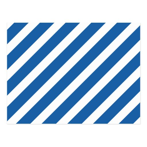 Basic Stripe 1 Dazzling Blue Postcard