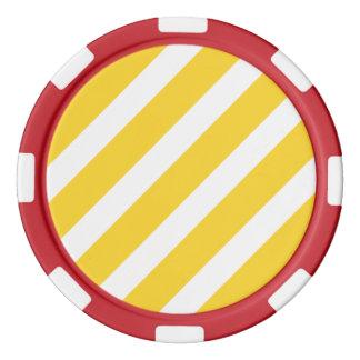 Basic Stripe 1 Freesia Poker Chip Set