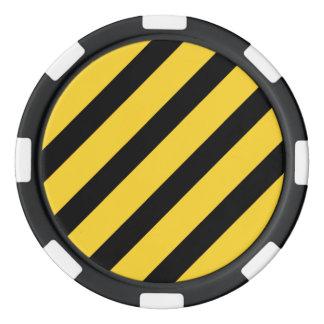 Basic Stripe 1 Freesia Poker Chips