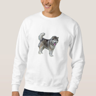 Basic Sweatshirt, White dogs by highsaltire Sweatshirt
