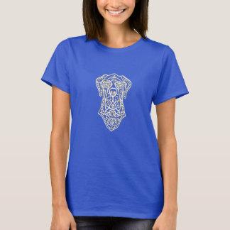 Basic T-Shirt -Great Dane Sugar Skull Front Design