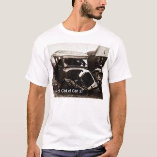Basic T-shirt with classic car crash  and Ctrl z