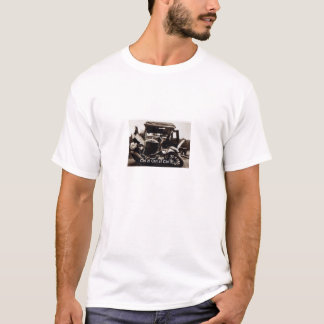 Basic t-shirt with classic car crash humor