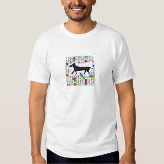 Basic T-Shirt with Dog Crossword and Xmas Theme