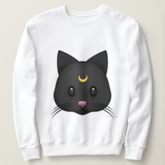 Basic tee-shirt black cat sweatshirt