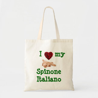 Basic tote bag with adorable Spinone puppy