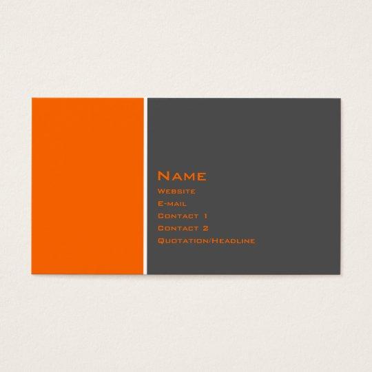 Basic Two Colour Orange Business Card