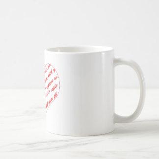 Basic White Heart Shaped Photo Frame Mugs