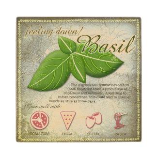 Basil Wooden Coaster Maple Wood Coaster