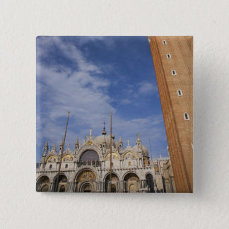 Basilica and Bell Tower St Mark's Square Venice 15 Cm Square Badge