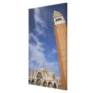 Basilica and Bell Tower St Mark's Square Venice Canvas Print