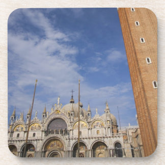 Basilica and Bell Tower St Mark's Square Venice Drink Coasters