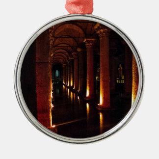 Basilica Cistern 3 Silver-Colored Round Decoration