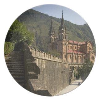 Basilica de Covadonga, northwestern Spain. Party Plates