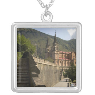 Basilica de Covadonga, northwestern Spain. Silver Plated Necklace
