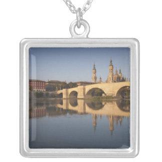 Basilica de Nuestra Senora de Pilar 2 Silver Plated Necklace