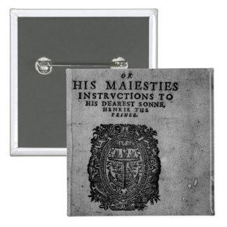Basilicon Doron, 1603 15 Cm Square Badge