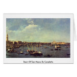 Basin Of San Marco By Canaletto (Ii) Greeting Card