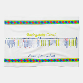Basingstoke Canal UK Inland Waterways Route Yellow Kitchen Towels