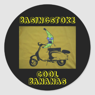 BASINGSTOKE COOL BANANAS CLASSIC ROUND STICKER