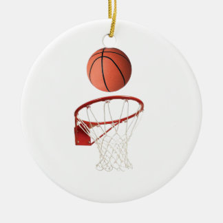 """Basket ball"" design gifts and products Round Ceramic Decoration"