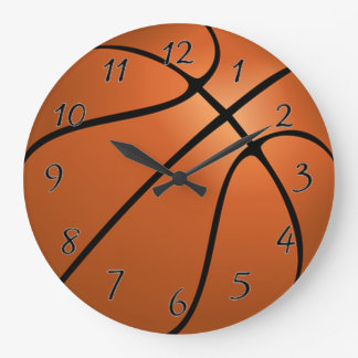 Basket Ball Large Clock