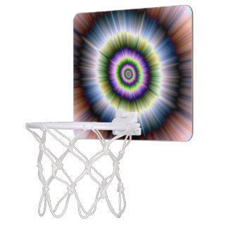 Basket Ball Net  Exploding Blue Green and Pink Mini Basketball Hoop
