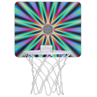 Basket Ball Net   Star in Turquoise Blue and Pink Mini Basketball Hoop