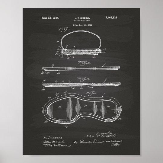 Basket Ball Shoe 1934 Patent Art Chalkboard Poster