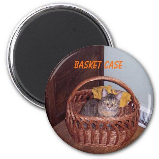 Basket Case Kitty 6 Cm Round Magnet