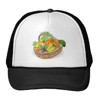 Basket fresh vegetables trucker hats