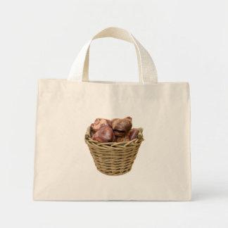 Basket full of hearts canvas bag