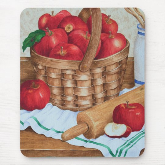 Basket of Apples - Mousepad