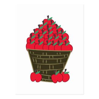 Basket Of Apples Postcard