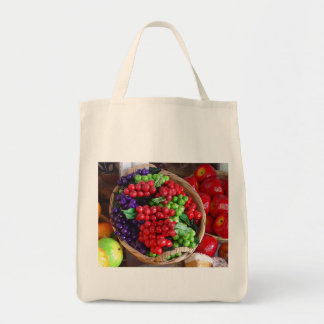 """Basket of Bounty""  Organic Grocery Tote Bag"
